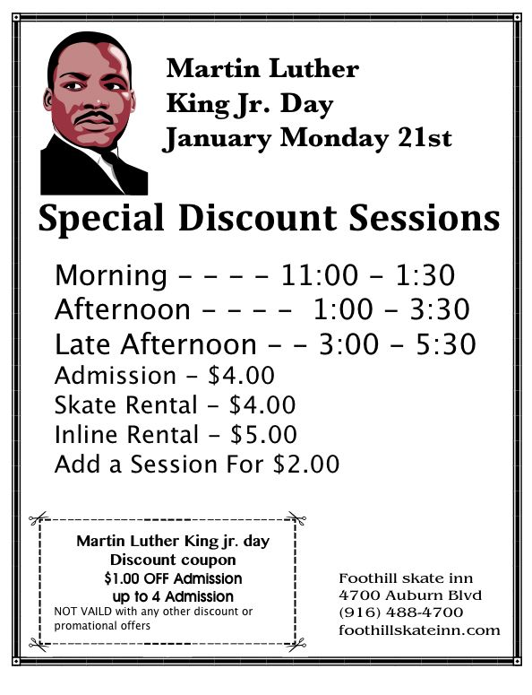 King Jr Day with coupon