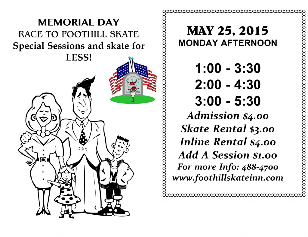 MEMORIAL DAY RACE TO