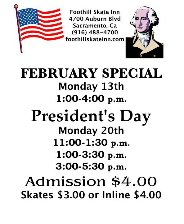 Presidents day flyer copy