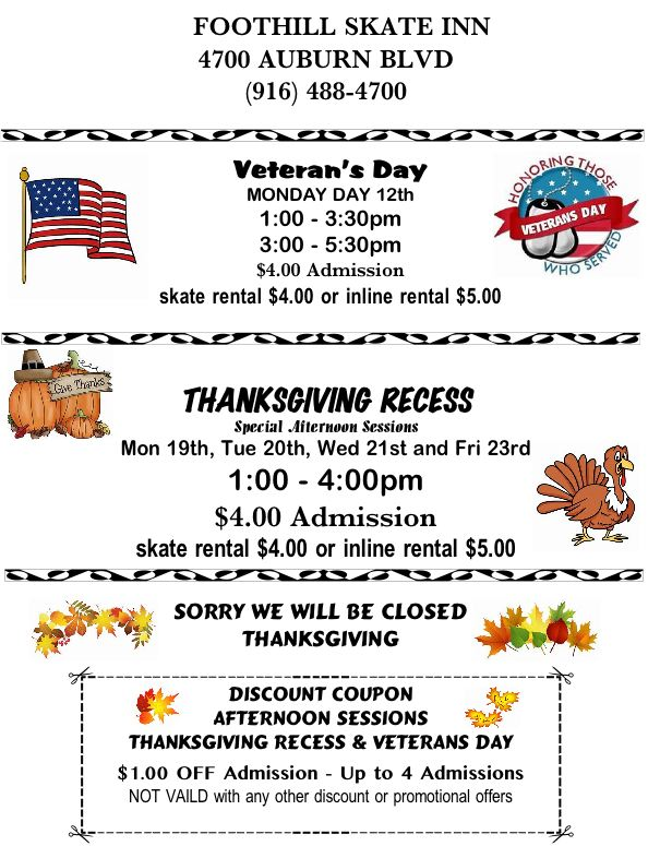 Thanksgiving recess flyer 2018